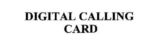 DIGITAL CALLING CARD