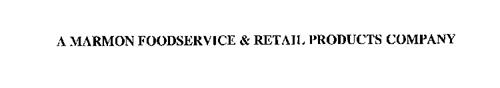 A MARMON FOODSERVICE & RETAIL PRODUCTS COMPANY
