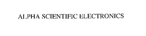 ALPHA SCIENTIFIC ELECTRONICS