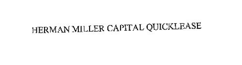 HERMAN MILLER CAPITAL QUICKLEASE