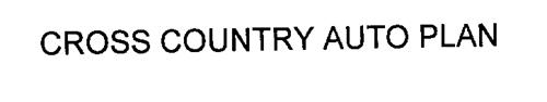 CROSS COUNTRY AUTO PLAN