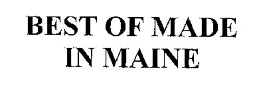 BEST OF MADE IN MAINE