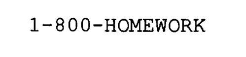 1-800-HOMEWORK