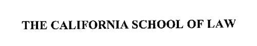 THE CALIFORNIA SCHOOL OF LAW