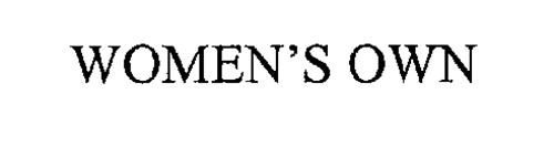 WOMEN'S OWN