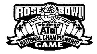 ROSE BOWL NATIONAL CHAMPIONSHIP