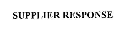 SUPPLIER RESPONSE