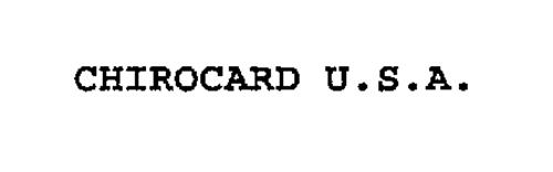 CHIROCARD U.S.A.