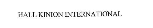HALL KINION INTERNATIONAL