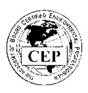 THE ACADEMY OF BOARD CERTIFIED ENVIRONMENTAL PROFESSIONALS CEP