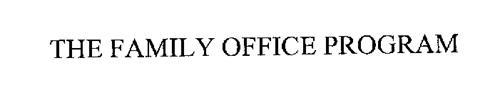 THE FAMILY OFFICE PROGRAM