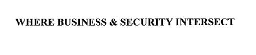 WHERE SECURITY & BUSINESS INTERSECT