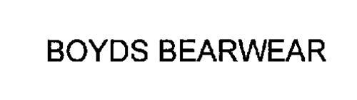 BOYDS BEARWEAR