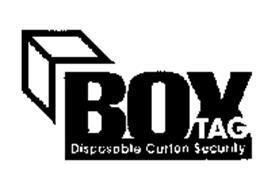 BOX TAG DISPOSABLE CARTON SECURITY