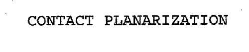 CONTACT PLANARIZATION