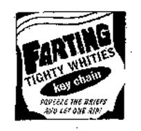 FARTING TIGHTY WHITIES KEY CHAIN SQUEEZE THE BRIEFS AND LET ONE RIP!