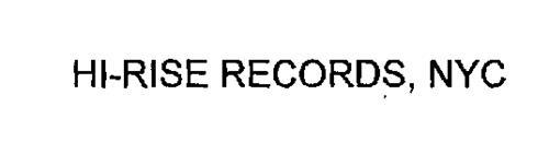 HI-RISE RECORDS, NYC