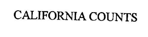 CALIFORNIA COUNTS