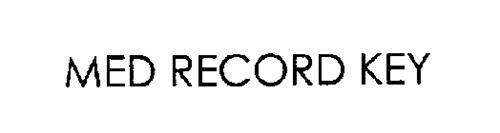 MED RECORD KEY