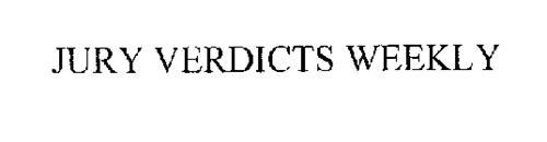 JURY VERDICTS WEEKLY