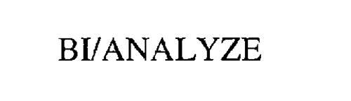 BI/ANALYZE