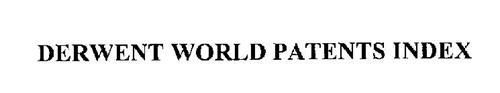 DERWENT WORLD PATENTS INDEX
