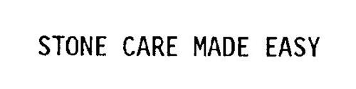 STONE CARE MADE EASY