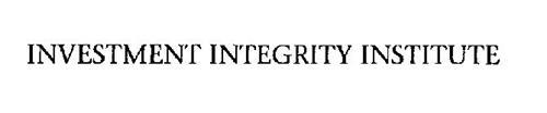 INVESTMENT INTEGRITY INSTITUTE