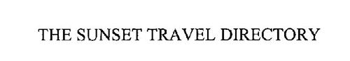 THE SUNSET TRAVEL DIRECTORY