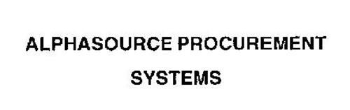 ALPHASOURCE PROCUREMENT SYSTEMS