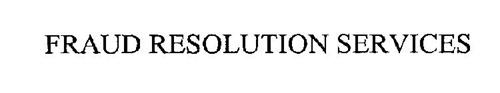 FRAUD RESOLUTION SERVICES