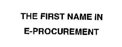 THE FIRST NAME IN E-PROCUREMENT