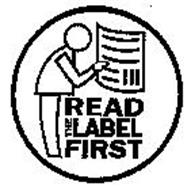 READ THE LABEL FIRST