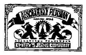 ABSOLUTELY RUSSIAN ORIGINAL STYLE GUARANTEED JEANWEAR DMITRYS JEAN COMPANY