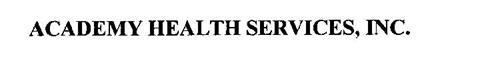 ACADEMY HEALTH SERVICES, INC.