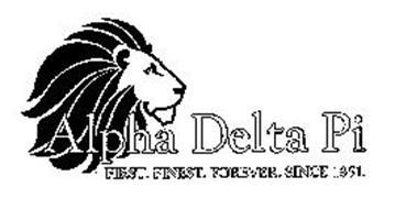 ALPHA DELTA PI FIRST. FINEST. FOREVER. SINCE 1851.