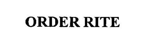 ORDER RITE