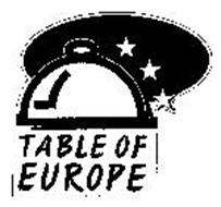 TABLE OF EUROPE