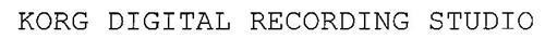 KORG DIGITAL RECORDING STUDIO