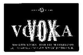 VOX VODKA DISTILLED V FIVE TIMES IMPORTED VODKA FROM THE NETHERLANDS DISTILLED FROM GRAIN-40% ALCOHOL BY VOLUME (80 PROOF)-750 ML