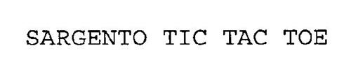 SARGENTO TIC TAC TOE