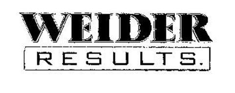 WEIDER RESULTS.