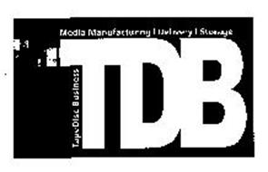 TDB MEDIA MANUFACTURING DELIVERY STORAGE TAPEDISC BUSINESS