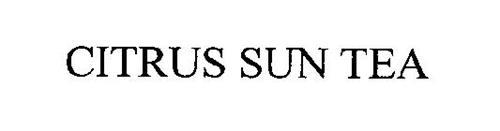 CITRUS SUN TEA