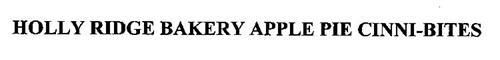 HOLLY RIDGE BAKERY APPLE PIE CINNI-BITES