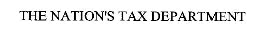 THE NATION'S TAX DEPARTMENT