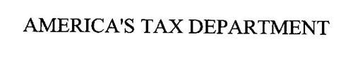 AMERICA'S TAX DEPARTMENT