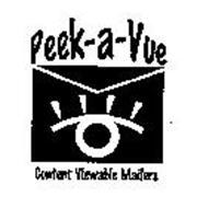 PEEK-A-VUE CONTENT VIEWABLE MAILERS