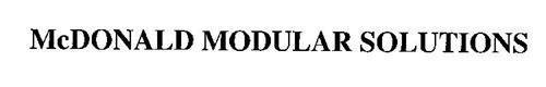 MCDONALD MODULAR SOLUTIONS
