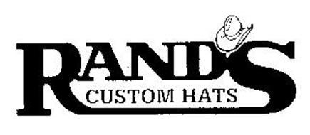 RANDS CUSTOM HATS Trademark of RAND S CUSTOM HATS INC. Serial Number ... 95d6c45b98d